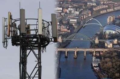 5g technology in gateshead - an ugly mast